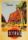 Winter in Central Australia. Vintage Travel Poster art print by James Northfield