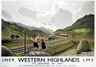 Western Highlands, Scotland. LNER Vintage Travel Poster print by Keith Henderson