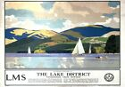 The Lake District, Windermere. LMS Vintage Travel Poster art by Norman Wilkinson