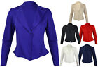 Ladies New Plus Size Blazer Womens Pointed Hem Long Sleeve Fitted Jacket 16 - 22