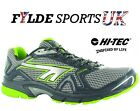 New Mens Hi-Tec R156 Lightweight Running Sports Cross Trainers UK Black/Green AS