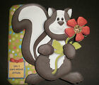 Handmade Greeting Card & Matching Envelope 3D With A Skunk