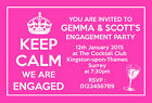 Personalised Engagement Party Invitations Invites Keep Calm E32
