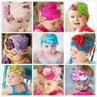 Baby Girl Infant Bow Peacock Feather Flower Headwear Butterfly  Headband 0282d