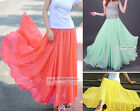 Full Circle Chiffon Skirt Long Skirt S~3XL #GF0681