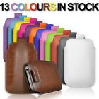 PULL UP POUCH COVER LEATHER CASE FOR SAMSUNG I5500i GALAXY EUROPA MOBILE PHONE