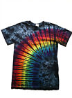 "Groovy Blueberry Adult Tie-Dye ""Rainbow Eclipse"" T-shirt"