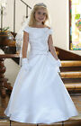 NEW FLOWER GIRL FORMAL GOWN CONFIRMATION WHITE FIRST COMMUNION CHURCH LADY DRESS