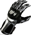 SILVER Bullet Sports Biker VENTED CE Armored Leather Motorcycle Motorbike Gloves