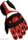 RED Devil Pro Sports Biker VENTED CE Armored Leather Motorcycle Motorbike Gloves