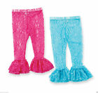 Mud Pie Wild Child Baby Girl Hot Pink or Aqua Lace Leggings 176427
