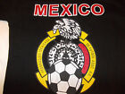 Black White short sleeve Mexico Soccer T shirt Mexico De futbol T shirt S-M