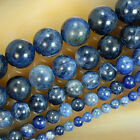 "Natural Blue Sodalite Round Beads 15.5"" Pick Size 4,6,8,10,12mm"