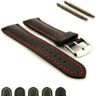 Mens Padded Genuine Leather Watch Straps Bands 18mm 20mm 22mm 24 mm Canyon