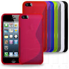 SLIM FITTED S-CURVE STYLE HYDRO GEL SKIN CASE COVER FOR APPLE iPHONE 5 5G MOBILE