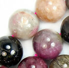 13mm Natural Colorful Turmaline Round Beads 16""