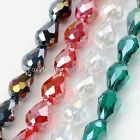 "Crystal Glass Faceted Teardrop Loose Beads Jewelry Making Findings DIY 27""L"