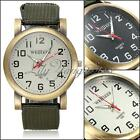 Army Casual Military Green Canvas Strap Fabric Soldier Outdoor Sport Wrist Watch