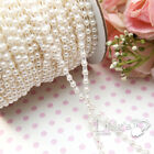 25m Ivory & White Pearl String Garland Bridal Beads Wedding Favour Decoration