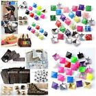 100/200p Square Pyramid Spike Studs Rock Clothes Leather Craft DIY Nailhead Punk