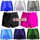 Womens Ladies Wet Look Shiny Pant Disco Hot Shorts Button Zip High Waisted 6-14