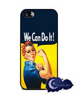 Rosie The Riveter - Silicone Rubber Case for iPhone 5,  Cover -  We Can Do It!