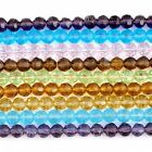 1 New Strand 6mm Glass Faceted Round Loose Beads Crystal Jewelry Making Colorful