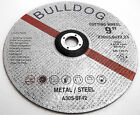 "BULLDOG 230mm 9"" METAL CUTTING DISCS  ANGLE GRINDER SAW BLADES"