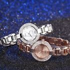 WEIQIN Crystal Lady Women Analog White & Rose Gold Dial Bracelet Wrist Watch