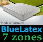 LIT LITERIE MATELAS ADULTE/ENFANT 80/90x190/200 cm BLUE-LATEX+AQUAPUR 7 ZONES