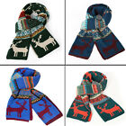 Mens Novelty Printed Chrismas Long Shawl Wrap Textured Scarf