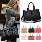 OL Style Lady Women A4 Faux Leather Cross Body Shoulder Clutch Handbag Bag Purse