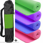 Yoga Mat PVC Thick Exercise Fitness Physio Pilates Gym Mats Non Slip Carrier