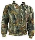 MENS HUNTERS JACKET Gents tough 2 layer cotton camo hoody wood tree camouflage