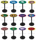 Choose NCAA K-M Team 36 Tall L214 Black Round Base Pub Bar Table - 28 / 36 Top