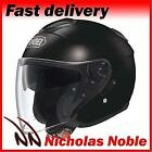 SHOEI J-CRUISE OPEN FACE PINLOCK READY URBAN MOTORCYCLE SCOOTER HELMET BLACK