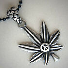 Motif Leaf Marijuana with Peace Sign 70's/Hippie/Reggae Silver Pewter Pendant
