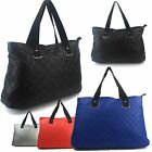 Ladies Large Faux Leather Shoulder Bag Quilted Women Handbags Beach Tote Shopper