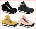 WOMENS SAFETY STEEL TOE CAP WORK HIKING LEATHER LADIES TRAINERS BOOTS SIZE 3-8