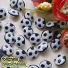 Black Football 12mm Plastic Buttons Sewing Scrapbooking Cardmaking Craft FBB