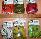 Fly Tying Hareline Black Barred Rabbit MAGNUM Zonker Strips Lure Bass Pike Trout