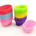 Silicone 7cm Oval Shape Cup Cake Muffin Baking Baking Mould Cupcake Case DIY