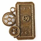 6/30pcs 144705 New Fashion Gear Clock Shapes Plated Bronze Charms Alloy Pendants