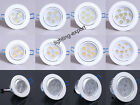 3W 5W 7W 9W LED Recessed Ceiling Spot Down Light Bulb Lamp Pure/Warm White Cover