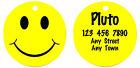 Personalized Custom Pet Dog Cat Tag ID Double sided Smiley face Fun Happy
