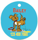 Personalized Custom Pet Dog Cat Tag ID Funny Dog Peeing on floor Any name Text