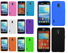 For LG Optimus F7 US780 Rubber SILICONE Soft Gel Skin Case Phone Cover