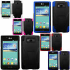 For LG Venice LG730 Advanced KICK STAND Silicone Case Phone cover