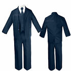 Baby Infant Kid Teen Toddler Boy Wedding Party 5pc Navy Formal Tuxedo Suit S-20