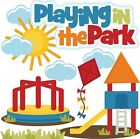 Playing in the Park SET of Scrapbook Embellishment Paper Piecing Cards